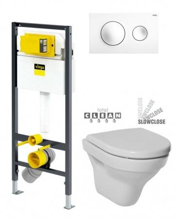 VIEGA Presvista modul DRY pre WC vrátane tlačidla Style 20 bielej + WC JIKA TIGO + SEDADLO duraplastu SLOWCLOSE (V771973 STYLE20BI TI2)