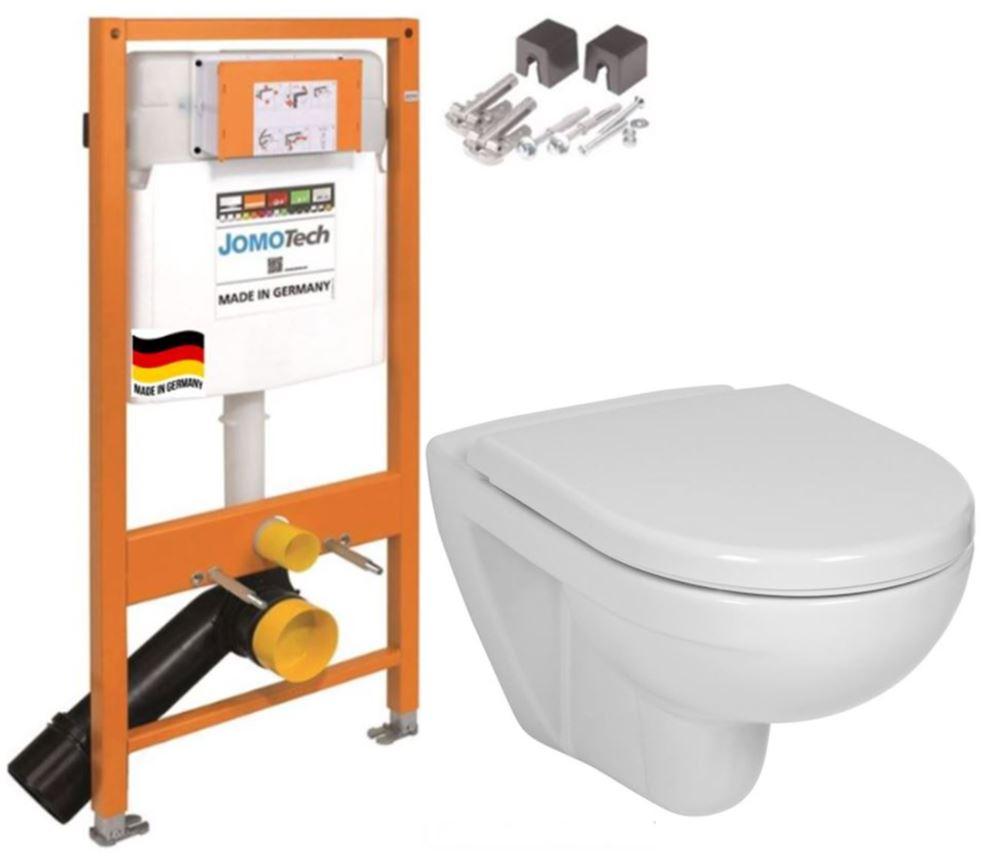 JOMO DUO modul pro závěsné WC bez desky + WC JIKA LYRA PLUS + SEDÁTKO DURAPLAST (174-91100700-00 LY6)