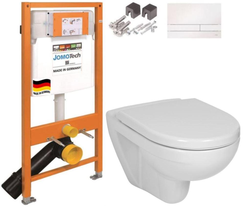 JOMO DUO modul pro závěsné WC s bílou deskou + WC JIKA LYRA PLUS + SEDÁTKO DURAPLAST (174-91100900-00 LY6)