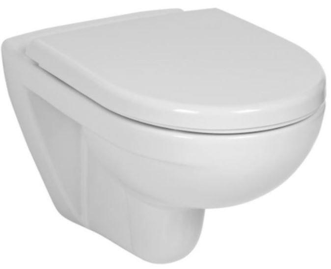GEBERIT DuofixBasic s chrómovým tlačidlom DELTA50 + WC JIKA LYRA PLUS + SEDADLO duraplastu (458.103.00.1 50CR LY6)