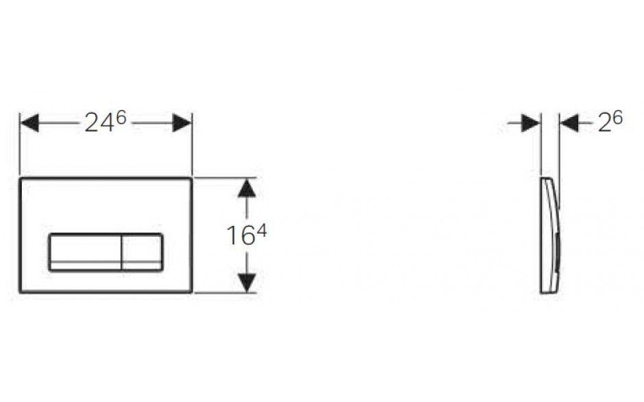 GEBERIT DuofixBasic s chrómovým tlačidlom DELTA51 + WC JIKA LYRA PLUS + SEDADLO duraplastu (458.103.00.1 51CR LY6)