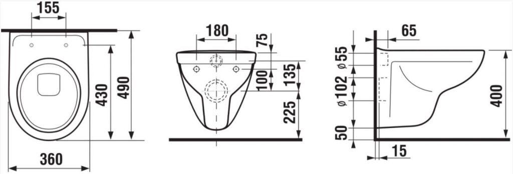ALCAPLAST  Sádromodul - predstenový inštalačný systém s bielym / chróm tlačidlom M1720-1 + WC JIKA LYRA PLUS + SEDADLO duraplastu (AM101/1120 M1720-1 LY6)
