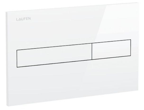 LAUFEN Rámový podomietkový modul CW1 SET s bielym tlačidlom + WC JIKA LYRA PLUS + SEDADLO duraplastu (H8946600000001BI LY6)