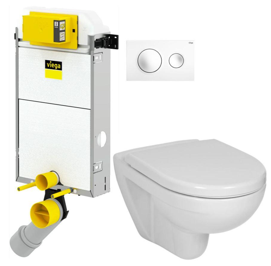 VIEGA Presvista modul PURE pro WC včetně tlačítka Style 20 bílé + WC JIKA LYRA PLUS + SEDÁTKO DURAPLAST (V771928 STYLE20BI LY6)