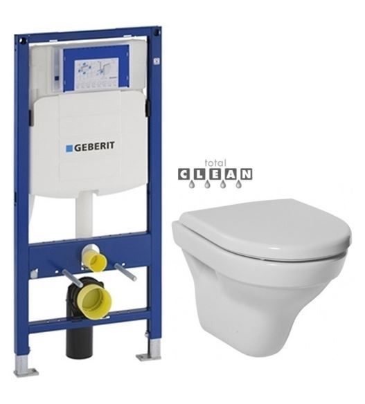GEBERIT Duofix bez ovládacej dosky + WC JIKA TIGO + SEDADLO duraplastu 111.300.00.5 TI3