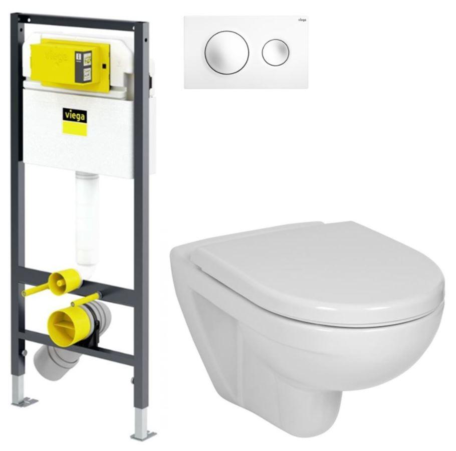 VIEGA Presvista modul DRY pro WC včetně tlačítka Style 20 bílé + WC JIKA LYRA PLUS + SEDÁTKO DURAPLAST (V771973 STYLE20BI LY6)
