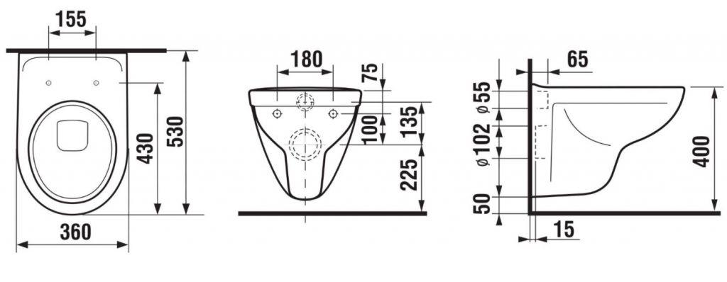 GEBERIT KOMBIFIXBasic vr. matného tlačidla DELTA 21 + WC JIKA LYRA PLUS + SEDADLO duraplastu SLOWCLOSE (110.100.00.1 21MA LY5)