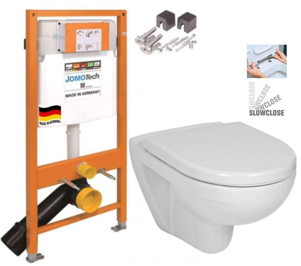JOMO DUO modul pro závěsné WC bez desky + WC JIKA LYRA PLUS + SEDÁTKO DURAPLAST SLOWCLOSE (174-91100700-00 LY5)