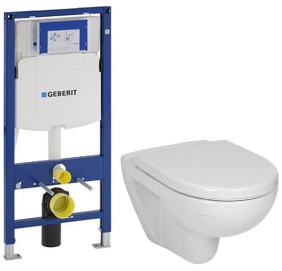 GEBERIT Duofix bez ovládacej dosky + WC JIKA LYRA PLUS + SEDADLO duraplastu 111.300.00.5 LY6