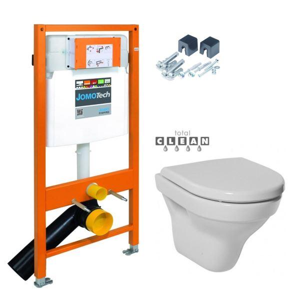 JOMOTech modul pre závesné WC bez sedátka + WC JIKA TIGO + SEDADLO duraplastu 174-91100700-00 TI3