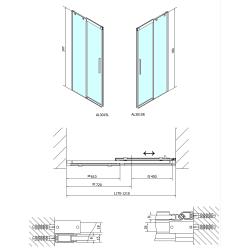 POLYSAN - ALTIS LINE sprchové dvere 1200mm, číre sklo (AL3015), fotografie 6/5