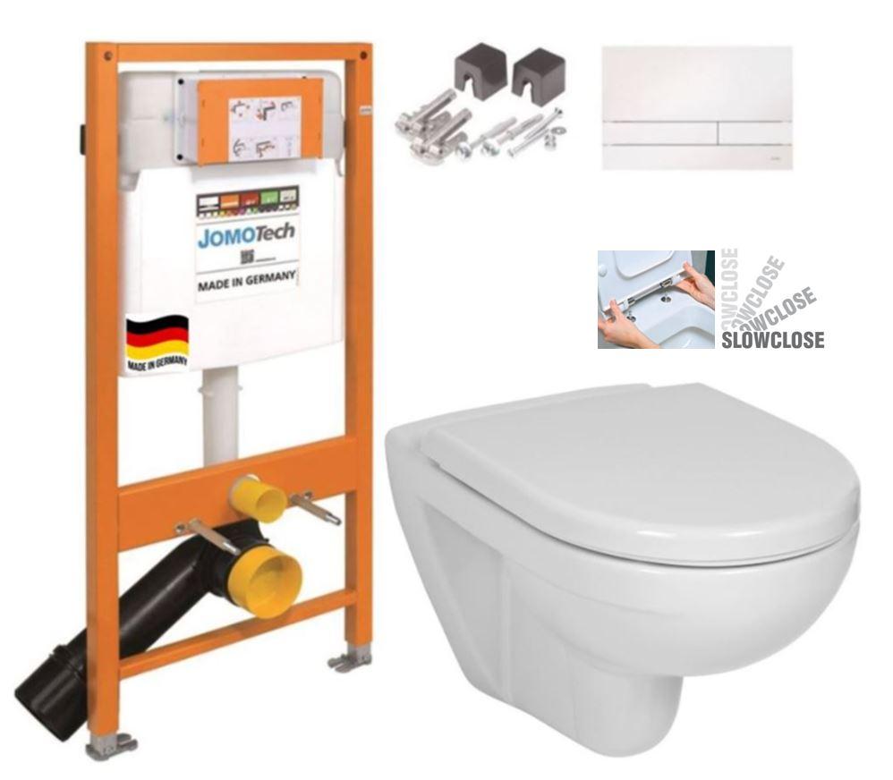 JOMO DUO modul pro závěsné WC s bílou deskou + WC JIKA LYRA PLUS + SEDÁTKO DURAPLAST SLOWCLOSE (174-91100900-00 LY5)