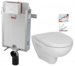 ALCAPLAST  Renovmodul - predstenový inštalačný systém bez tlačidla + WC JIKA LYRA PLUS + SEDADLO duraplastu SLOWCLOSE (AM115/1000 X LY5)