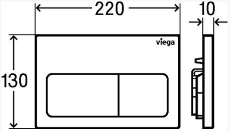 VIEGA Presvista modul PURE pre WC vrátane tlačidla Life5 CHROM + WC JIKA LYRA PLUS + SEDADLO duraplastu SLOWCLOSE (V771928 LIFE5CR LY5)