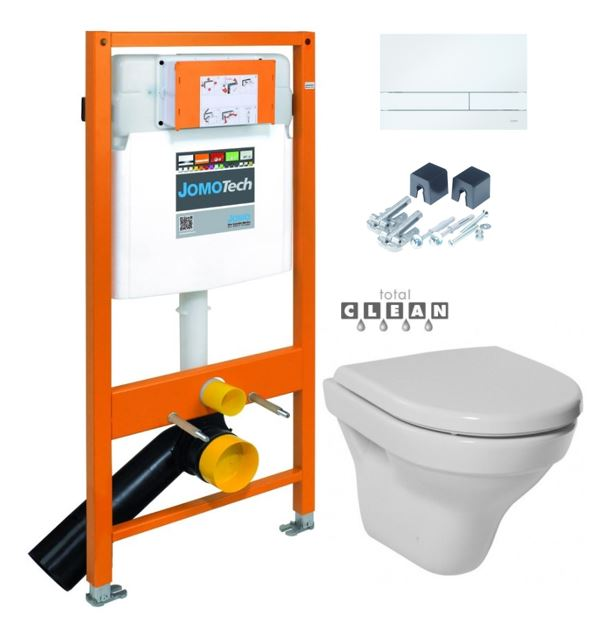 JOMO DUO modul pro závěsné WC s bílou deskou + WC JIKA TIGO + SEDÁTKO DURAPLAST (174-91100900-00 TI3)