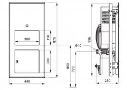 SANELA - Nerezová umyvadla Multifunkčné umývadlo z nehrdzavejúcej ocele, predná montáž, Antivandal, matná (SLUN 70P), fotografie 2/1