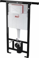 ALCAPLAST Jádromodul - predstenový inštalačný systém s bielym / chróm tlačidlom M1720-1 + WC JIKA TIGO + SEDADLO duraplastu (AM102/1120 M1720-1 TI3), fotografie 18/12