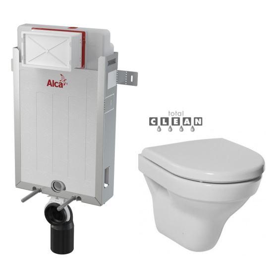 ALCAPLAST Renovmodul - předstěnový instalační systém bez tlačítka + WC JIKA TIGO + SEDÁTKO DURAPLAST (AM115/1000 X TI3)