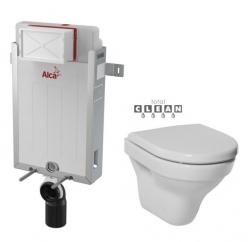 ALCAPLAST  Renovmodul - predstenový inštalačný systém bez tlačidla + WC JIKA TIGO + SEDADLO duraplastu (AM115/1000 X TI3)