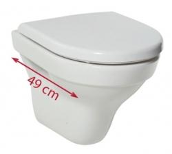 LAUFEN Rámový podomietkový modul CW1 SET s bielym tlačidlom + WC JIKA TIGO + SEDADLO duraplastu (H8946600000001BI TI3), fotografie 16/12