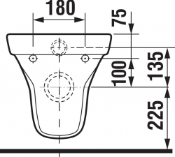 LAUFEN Rámový podomietkový modul CW1 SET s bielym tlačidlom + WC JIKA TIGO + SEDADLO duraplastu (H8946600000001BI TI3), fotografie 4/12
