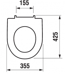 LAUFEN Rámový podomietkový modul CW1 SET s bielym tlačidlom + WC JIKA TIGO + SEDADLO duraplastu (H8946600000001BI TI3), fotografie 8/12