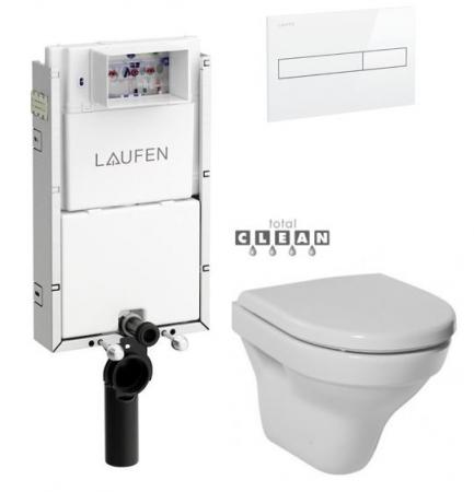 LAUFEN Podomít. systém LIS TW1 SET s bielym tlačidlom + WC JIKA TIGO + SEDADLO duraplastu (H8946630000001BI TI3)