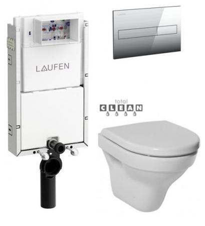 LAUFEN Podomít. systém LIS TW1 SET s chrómovým tlačidlom + WC JIKA TIGO + SEDADLO duraplastu (H8946630000001CR TI3)