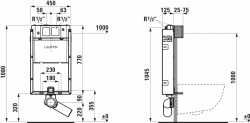 LAUFEN Podomít. systém LIS TW1 SET s chrómovým tlačidlom + WC JIKA TIGO + SEDADLO duraplastu (H8946630000001CR TI3), fotografie 22/12