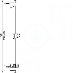 HANSA - Basicjet Sprchová tyč 720 mm, chróm (44710300), fotografie 2/3