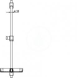 HANSA - Basicjet Sprchová tyč 720 mm, chróm (44710300), fotografie 4/3
