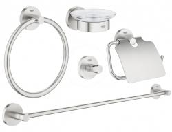 GROHE - Essentials Súprava doplnkov do kúpeľne 5 v 1, supersteel (40344DC1)