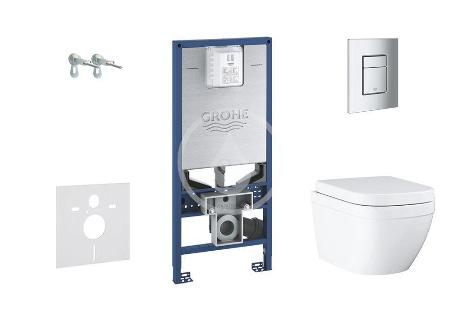 GROHE - Rapid SLX Set predstenovej inštalácie, klozetu a sedadla, tlačidla Skate Cosmopolitan S, Rimless, softclose 39603SET-KX