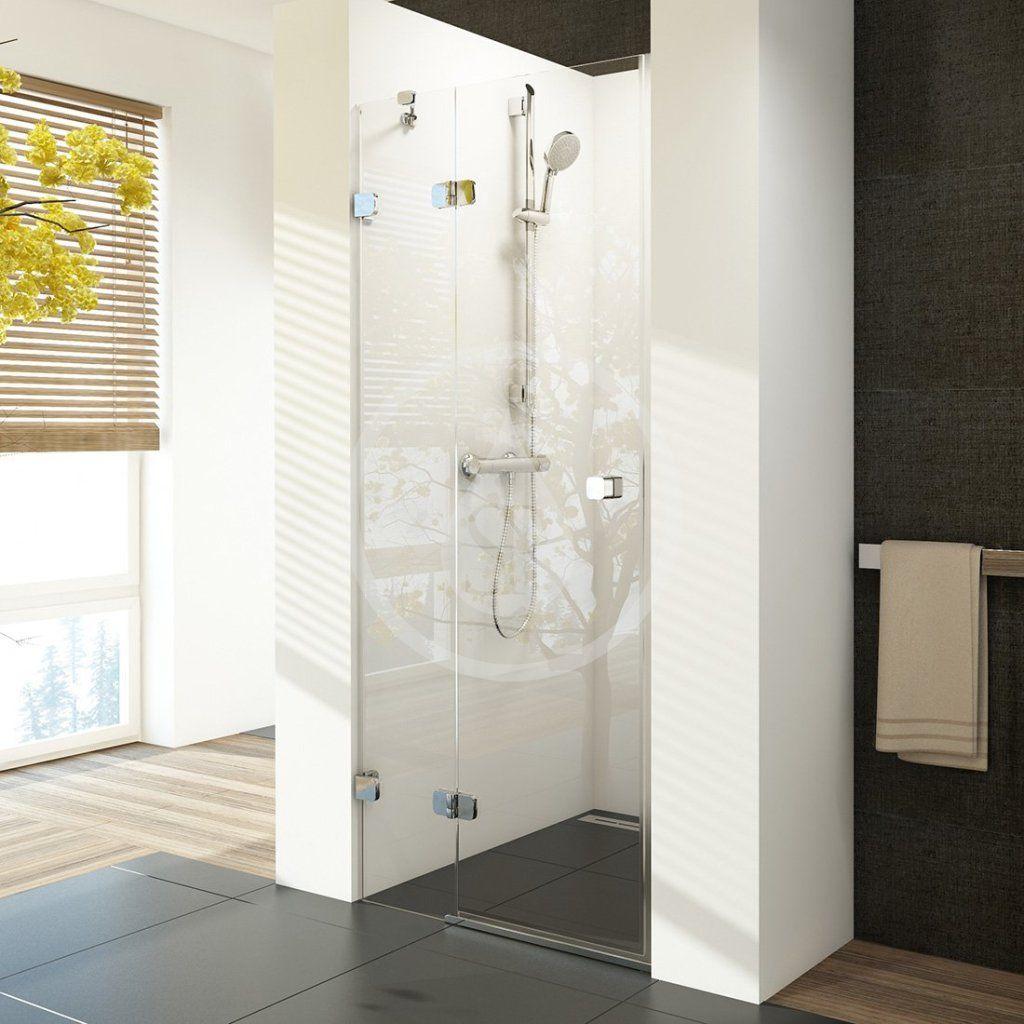 RAVAK - Brilliant Sprchové dvere dvojdielne BSD2-90 L, ľavé, 890 mm – 905 mm, farba chróm, sklo transparent 0UL7AA00Z1