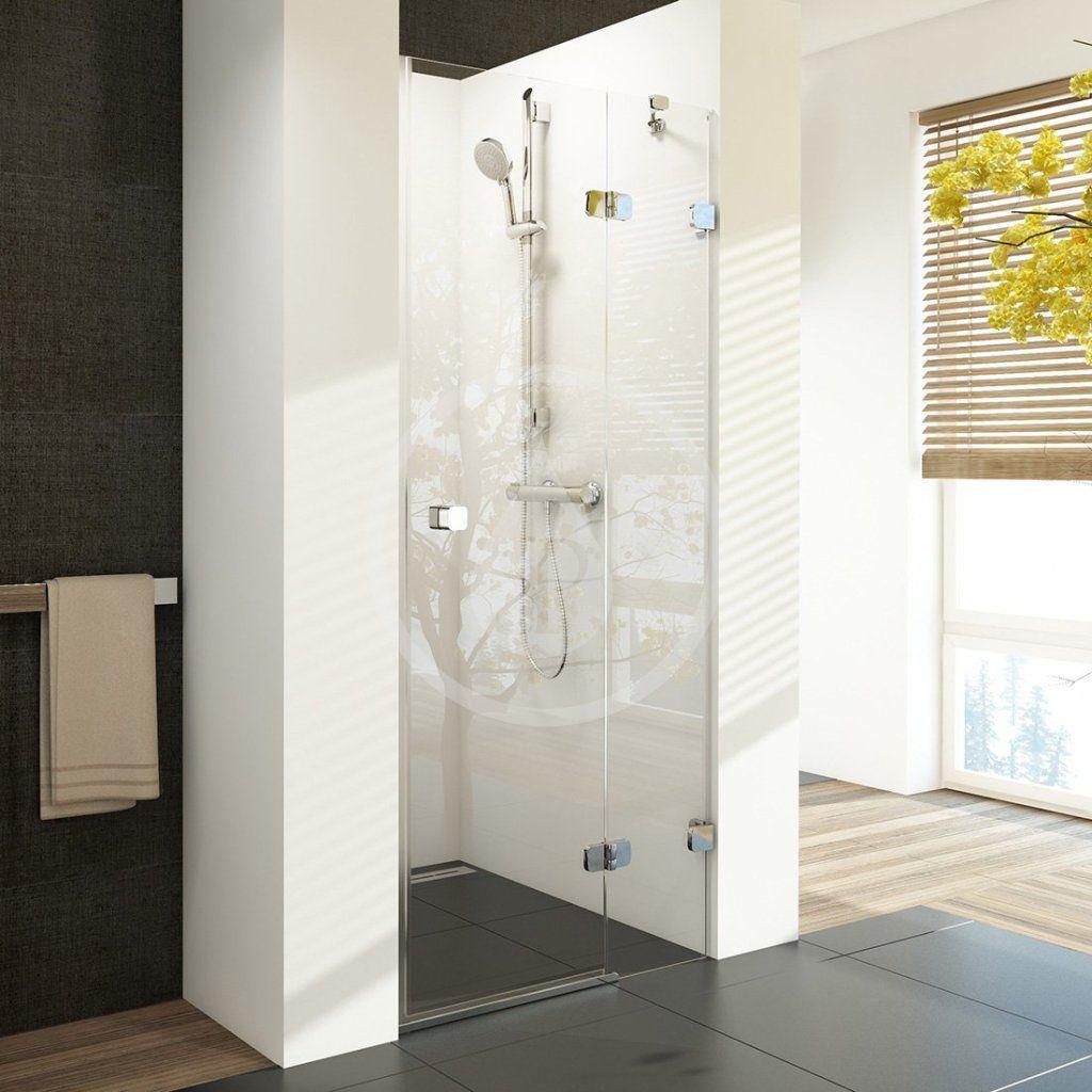RAVAK - Brilliant Sprchové dvere dvojdielne BSD2-90 R, pravé, 890 mm – 905 mm, farba chróm, sklo transparent 0UP7AA00Z1