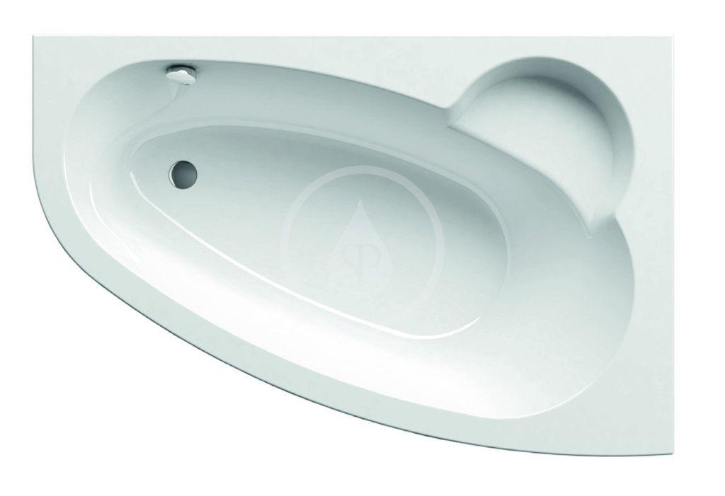 RAVAK - Asymmetric Asymetrická vaňa, 1600 mmx1050 mm, biela – vaňa, pravá C471000000