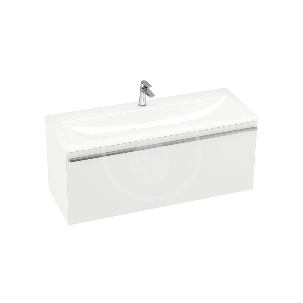 RAVAK - Clear Skrinka pod dvojumývadlo SD, 1000x380x420 mm, biela/biela X000000759