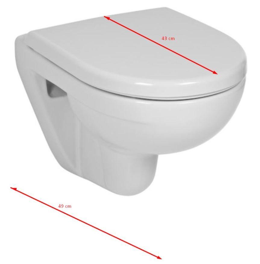 JOMO modul pre zamurovanie bez sedátka + WC JIKA LYRA PLUS 49 + SEDADLO duraplastu SLOWCLOSE (164-14600479-00 LY4)