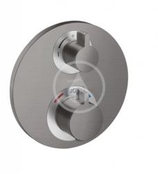 HANSGROHE - Ecostat S Termostatická batéria pod omietku na 2 spotrebiče, kefovaný čierny chróm (15758340)