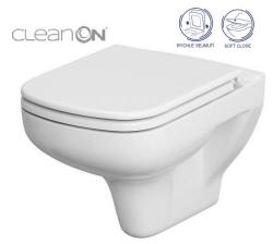 CERSANIT - SET 652 ZÁVESNÁ WC MISA COLOUR NEW CLEANON so sedadlom DUR ANTI Softclose (K701-042)