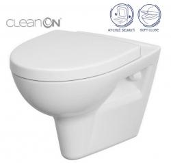CERSANIT - SET 547 ZÁVESNÁ WC MISA Parva NEW CLEANON so sedadlom DUR ANTI Softclose (K701-015)