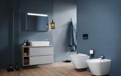 CERSANIT - WC sedátko CITY OVAL SLIM antib. OFF EASY jedno tlačidlo (K98-0146), fotografie 2/5