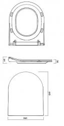 CERSANIT - WC sedátko CITY OVAL SLIM antib. OFF EASY jedno tlačidlo (K98-0146), fotografie 6/5