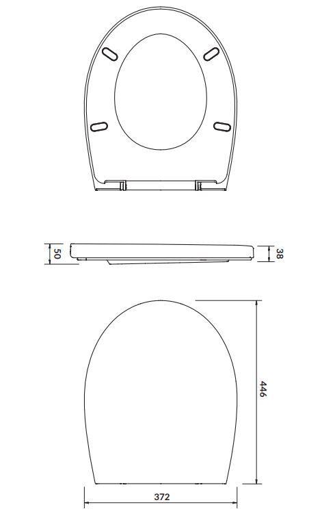CERSANIT - SEDADLO DELFI POLYPROPYLEN SOFT-CLOSE (K98-0073)