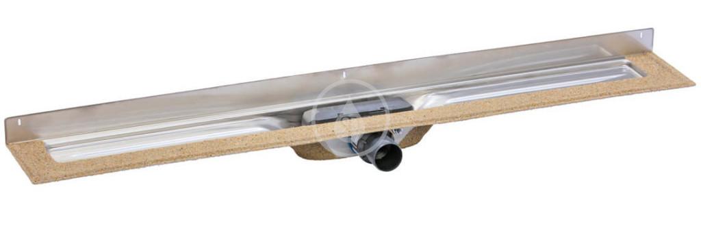 I-Drain - Chape 54 Sprchový žľab M z nehrdzavejúcej ocele, na dĺžku roštu 1000 mm, ku stene ID4ZSM10001X1