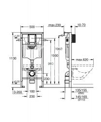 GROHE - Rapid SL Rapid SL na závesné WC (38536001), fotografie 2/1