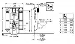 GROHE - Rapid SL Rapid SL na závesné WC (39140000), fotografie 2/1