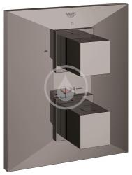 GROHE - Allure Brilliant Termostatická vaňová batéria pod omietku, Hard Graphite (19792A00)