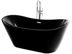 REA - Voľne stojaca vaňa Ferrano 170 čierna (REA-W6000)