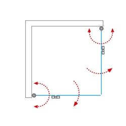 H K - Obdélníkový sprchový kout MELODY R907, 90x70 cm se zalamovacími dveřmi (SE-MELODYR907), fotografie 20/10